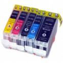 Pack 5 Canon PGI5 CLI8 Cartuchos de tinta Compatible con chip PREMIUN