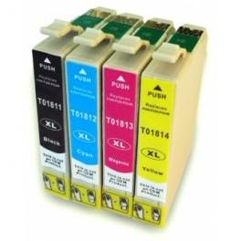 EPSON T1811/2/3/4 (18XL) CARTUCHOS DE TINTA GENERICOS PACK 4 COLORES