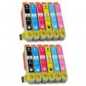 MULTIPACK 12 CARTUCHOS TINTA EPSON T2431 T2432 T2433 T2434 T2435 T2436 / 24XL COMPATIBLE