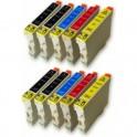 EPSON T0611/2/3/4 PACK 10 CARTUCHOS COMPATIBLES PREMIUN