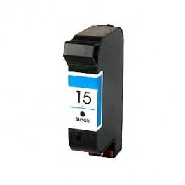 HP 15 xl Cartucho de Tinta Negro Remanufacturado Premium