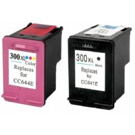 Pack 2 HP 300XL Cartucho de tinta remanufacturado PREMIUN
