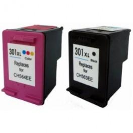 HP 301XL  V3 negro y tricolor cartuchos de tinta remanufacturado-ch563ee ,ch564ee valido nuevas impresoras PREMIUN