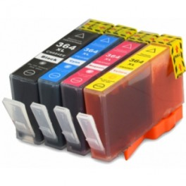 Pack 4 HP 364XL Cartuchos de tinta compatible con chip PREMIUN