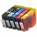 Pack 5 HP 364XL Cartuchos de tinta compatible con chip PREMIUN